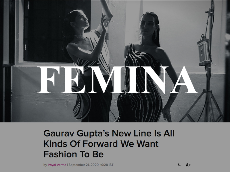 Gaurav Gupta's New Line Is All Kinds Of Forward We Want Fashion To Be